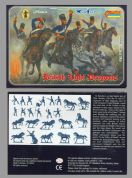 Strelets 1.72 scale 0040 Crimean British Light Dragoons (x 12 mtd figs)